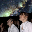 Visitors in the planetarium
