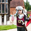 Child dressed as a knight