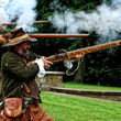 English Civil War re-enactors at Aston Hall