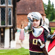 Children dressed as a knight