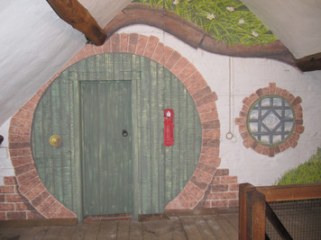 The hobbit hole painting at Sarehole Mill
