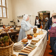 Visitors in the kitchen at Aston Hall