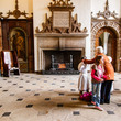 Visitors in the Great Hall at Aston Hall