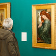 Visitor looking at Proserpine by Dante Gabriel Rossetti