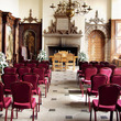 Great Hall set up for a wedding ceremony