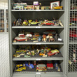 Toy cars in the stores at the Museum Collection Centre