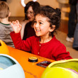 Child playing with an interactive at Thinktank