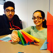 Naseer and Kiran with their model aeroplanes