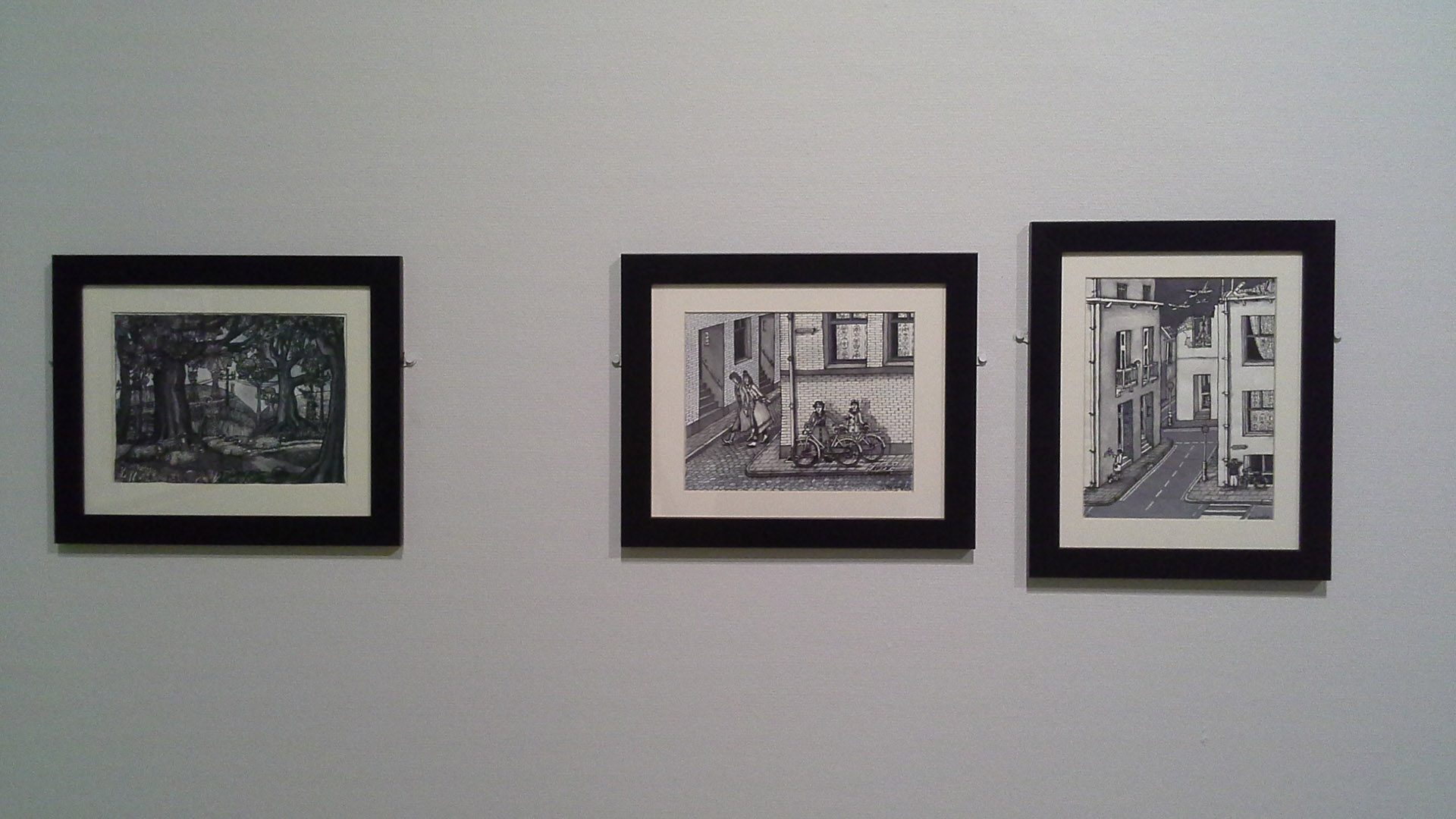 Streetscene I And Ii By Elsa Houghton
