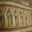 The four sons of the god Horus depicted on the coffin lid