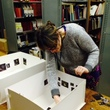 Using a scale model to look at the proposed hang for the new 17th century European galleries