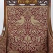 The back of the seat showing the William Morris fabric
