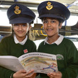 Children enjoying stories in the Spitfire Gallery