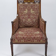 William Morris fabric covered chair