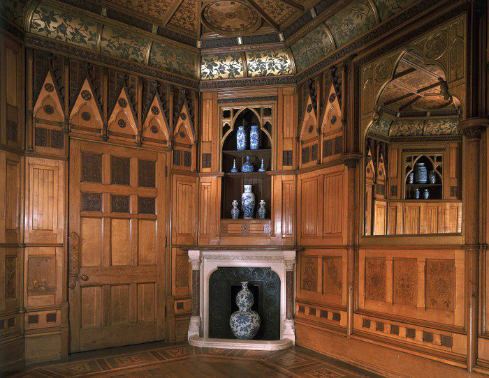 Panelled room of the Grove, acquired by the V&A