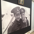Photos of two soldiers on display in the exhibition