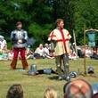 Medieval re-enactors at Weoley Castle