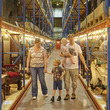 Family at the Museum Collections Centre