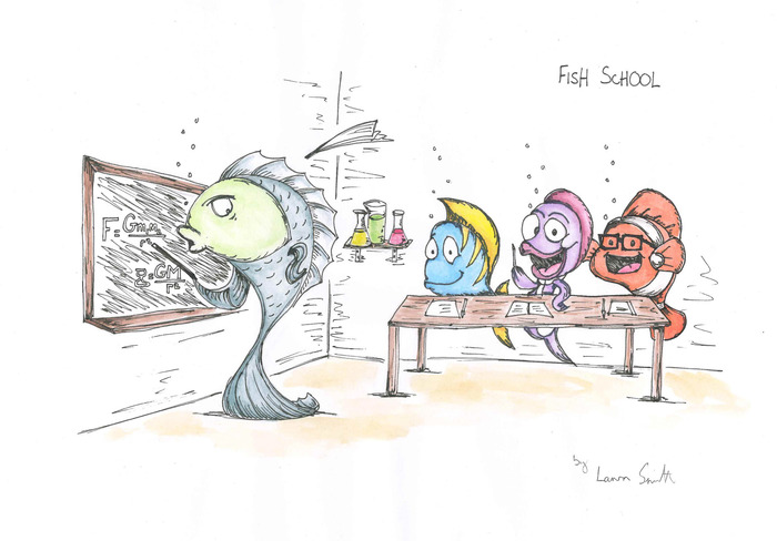 Fish School By Laura Smith