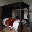 Bedroom at Aston Hall with ghostly figure