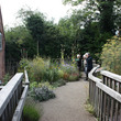 The garden path and gardens at Sarehole Mill
