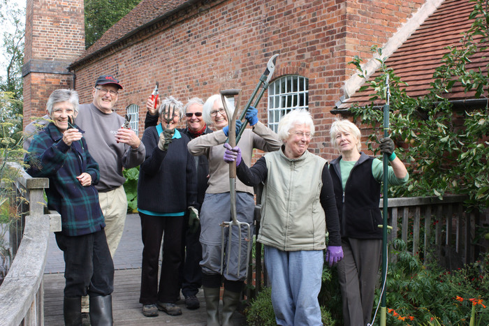 Some of the volunteer gardeners at Sarehole Mill