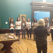 Ignite taking a tour of the Pre-Raphaelite gallery