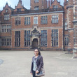 Manahil in front of Aston Hall