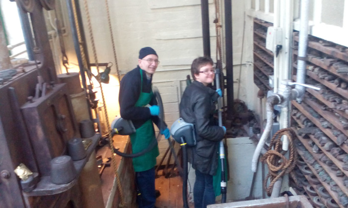 Barry and Emily at Museum of the Jewellery Quarter