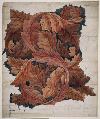 Wallpaper Design - Acanthus - Heavy Scrolling Design Of Acanthus Leaves