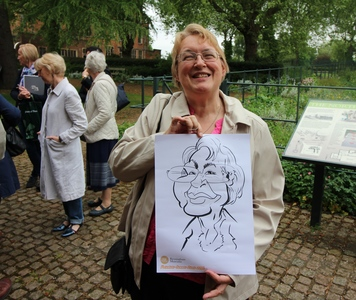 Shirley With Caricature