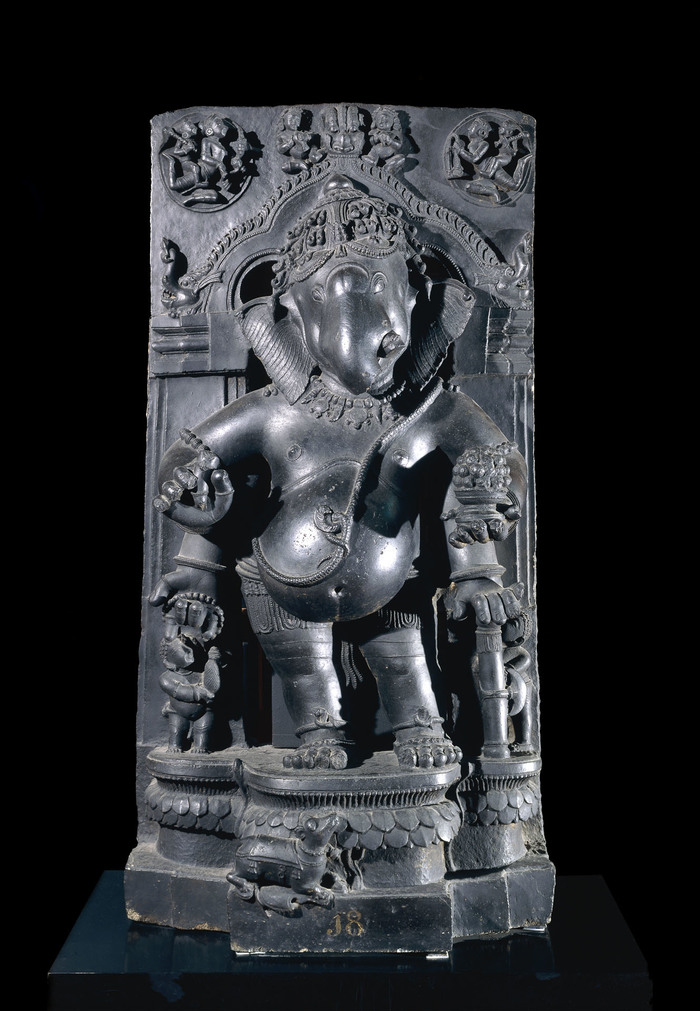 Schist figure of Ganesha, Orissa, 13th centry © The Trustees of the British Museum