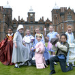 School pupils in costume outside Aston Hall