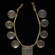 Necklace with temple tokens depicting Ganesha and Parvati undated India