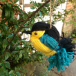 Wool bird decorations