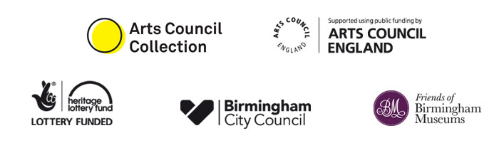 Night in the Museum partner logos: Arts Council Collection, Arts Council England, Heritage Lottery Fund, Birmingham City Council, Friends of Birmingham Museums