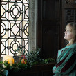 Christmas at Aston Hall - Lady and man looking out of the window