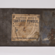 Tin of custard powder from a late-nineteenth century expedition to the North Pole