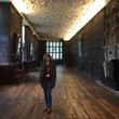 Beth in the Long Gallery at Aston Hall