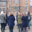 Group outside of Aston Hall