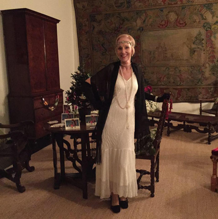 Fellow volunteer Gayle ready for Aston Hall event