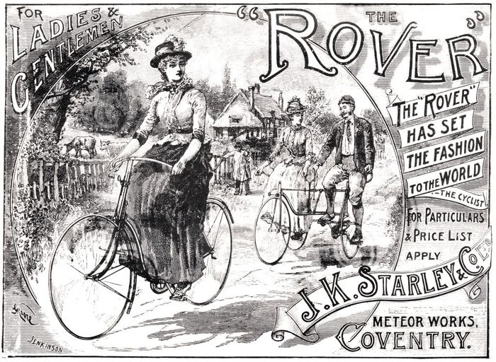 Advert for Rover bicycles, 1890s