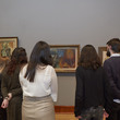 Students on a tour of the art gallery