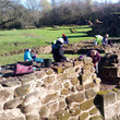 Weoley Castle volunteers caring for the ruins