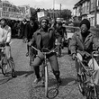 Out-riders head the African Liberation Day rally, Rookery Road, Handsworth, 1977.