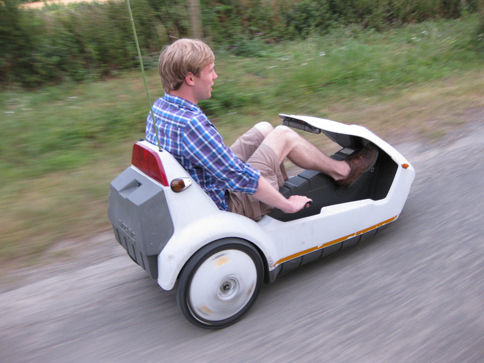 Driving a Sinclair C5 By Adam