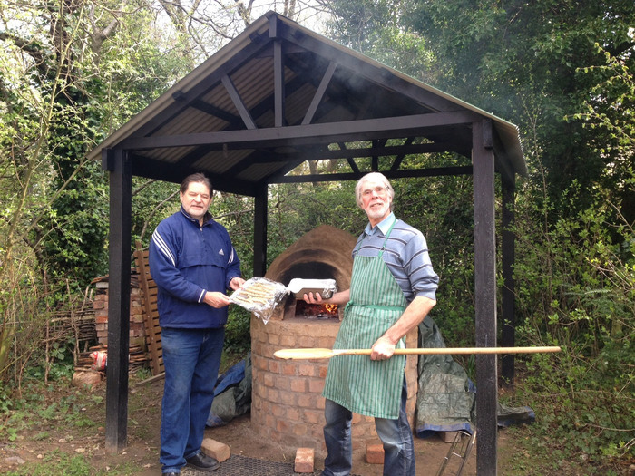 Dave and Allan baking bread at Sarehole Mill