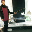 Sajida in the Mechanical Things exhibition