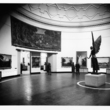 Jacob Epstein's Lucifer in the Round Room at Birmingham Museum and Art Gallery in the 1940s.