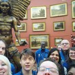 Lucifer in a selfie with gallery enablers at Birmingham Museum and Art Gallery